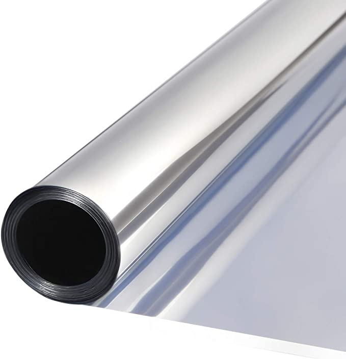 TTMOW Vinilo Pet Película Adhesiva Lámina de Espejo para Ventanas Cristal Unidireccional Protector de Privacidad Anti 99% UV y Anti 85% IR para Hogar y Oficina (90 * 200cm): Amazon.es: Hogar
