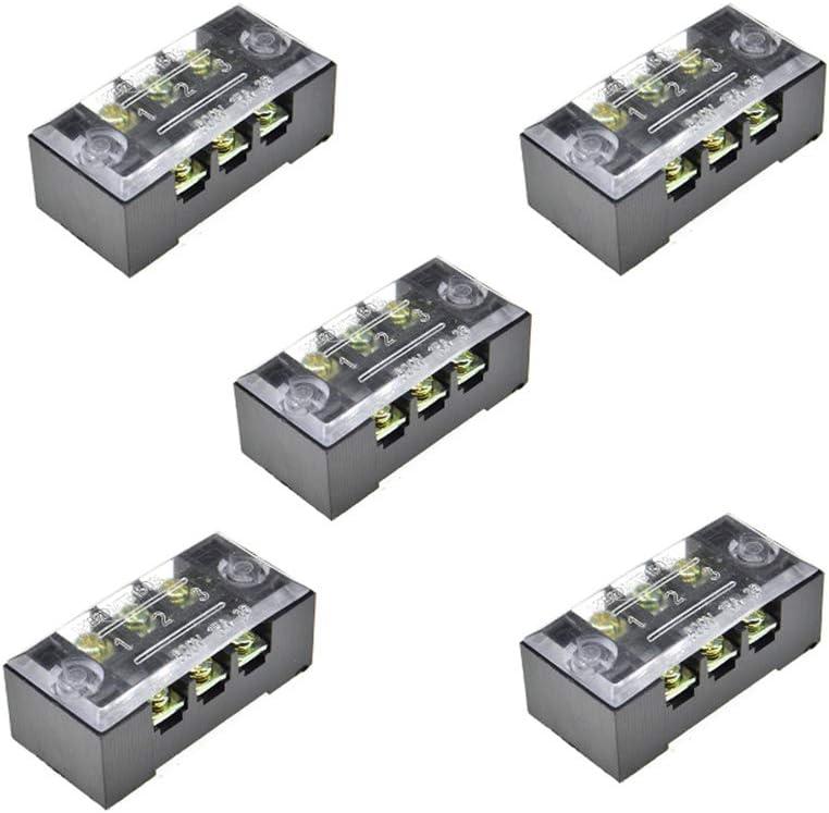 10 Pcs 5A Barrier Screws Terminal Wire Connector 12-Position Block Terminal
