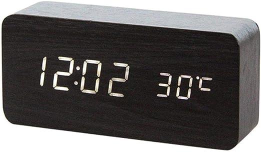 Alarmclocker8B LED Reloj Despertador de Madera Reloj de Mesa ...