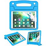 """Kids Case for Apple iPad Air 2, 1, iPad 9.7 Inch 2018 (6th Gen) / iPad 9.7"""" 2017 (5th Gen) - Lightweight Shockproof Convertible Handle Stand Tablet Cover (New iPad 9.7"""" 2018/2017, Blue)"""