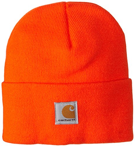 Carhartt Boys' And Girls' Acrylic Watch Hat, Brite Orange, - Youth Knit Hat