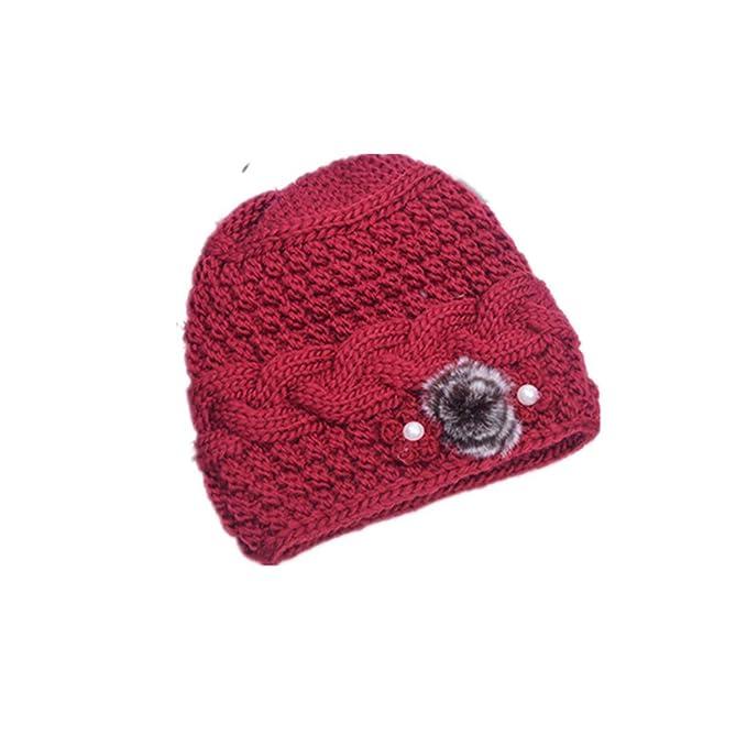 4b2985cee SANOMY Sombrero de Punto para Mujer