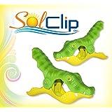 Towel clips, pegs, clothespins, clamps, épingles, pinces à serviette de plage, SolClip, Canada, Gator