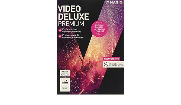 Magix Video Deluxe Premium 2018 - Software De Producción Y Edición De Vídeo, PC, Italian: Amazon.es: Software