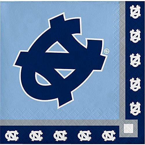 20-Count NCAA Paper Beverage Napkins, North Carolina Tar Heels