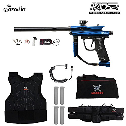 (MAddog Azodin KAOS 2 Sergeant Paintball Gun Package - Blue/Black)