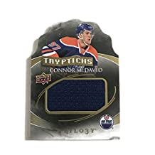 Connor McDavid 2015-2016 UD Trilogy Rookie Card Tryptichs Jersey - Edmonton Oilers