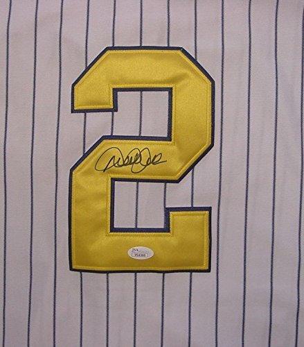 (Derek Jeter New York Yankees Autographed Commemorative Gold #2 Jersey JSA COA LOA )
