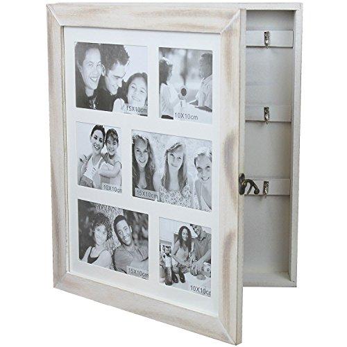 Schmuck-/Schlüsselschrank mit Fotogalerie für 6 Fotos Schmuckkästchen Schmuckkommode Wandschrank Schlüsselkasten