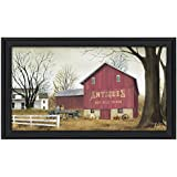 Trendy Decor4U Antique Barn By Billy Jacobs, Printed Wall Art, Ready To Hang Framed Poster, Black Frame