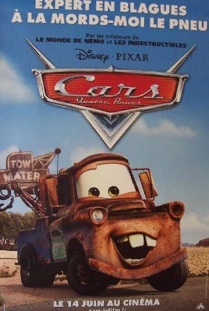 Amazon Com Cars Advance D Original French Movie Poster 46 X 68