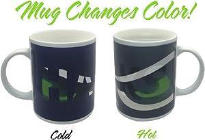 Hawks Eyes Color Changing Coffee Mug