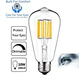 Best Globe Electric Dimmer Switches - DTALENT Vintage Edison LED Bulb, Dimmable ST64 10W=100W Review