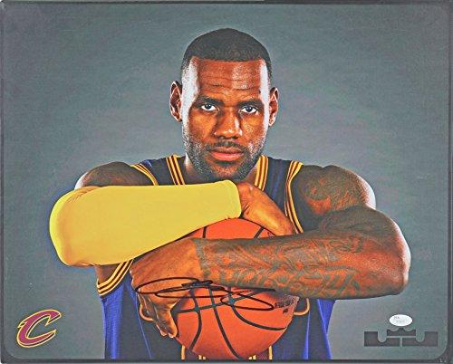 - Cavaliers LeBron James Authentic Signed 16x20 Canvas Autographed JSA #Z70073