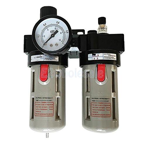 BFC-3000 Air Source Treatment Unit Filter Regulator Lubricator Combination by e2wholesale