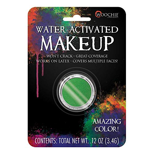 Woochie Water Activated Makeup - Professional Quality Halloween and Costume Makeup - (Green, 1.0 oz)