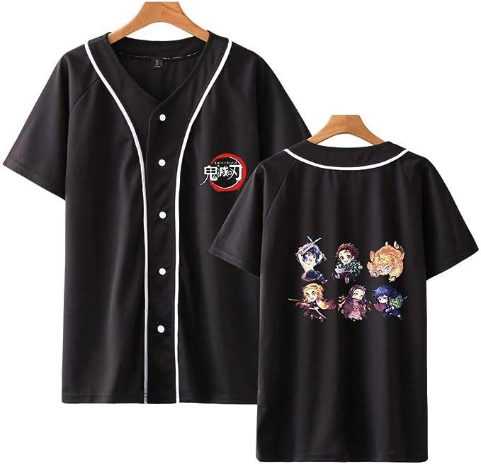 Men Women Black Cartoon Print 3D T-Shirt Casual Short Sleeve Tee S-5XL