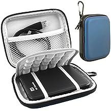 Lacdo Hard EVA Shockproof Carrying Case for Western Digital WD My Passport Studio Ultra Slim Essential / WD Elements SE Portable 1TB 2TB 3TB 4TB 2.5 inch Portable External Hard Drive Travel Bag,Blue