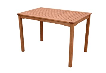 70 x 50 cm Gravidus Gartentisch aus Eukalyptus