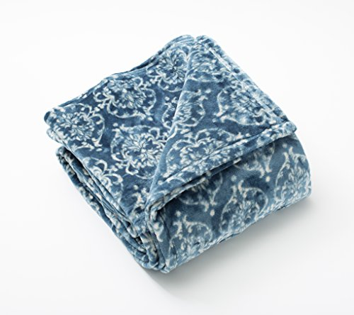 Kingston Collection Plush Blanket (Full / Queen, Teal / (Collection Blanket)