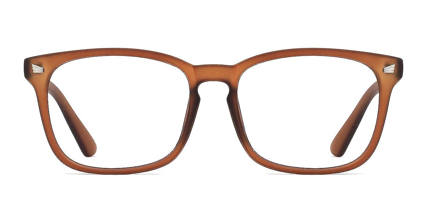 TIJN Klassische Nerdbrille Brille Ohne Sehst/ärke Polarisierte Sonnenbrille Damen Herren Optische Brillen Nicht Verschreibungspflichtige