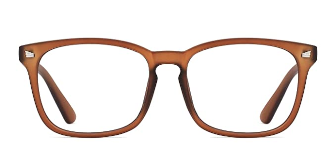 468b130791df Image Unavailable. Image not available for. Colour  TIJN Unisex Stylish Square  Non-prescription Eyeglasses Glasses Clear Lens Eyewear