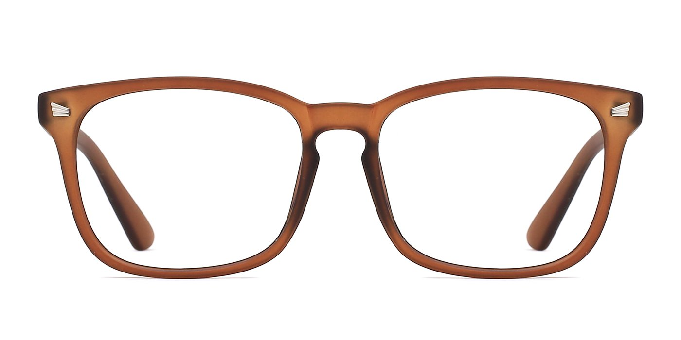 ویکالا · خرید  اصل اورجینال · خرید از آمازون · TIJN Unisex Non-Prescription Eyeglasses Glasses Clear Lens Square Eyewear Vintage Brown Frame wekala · ویکالا