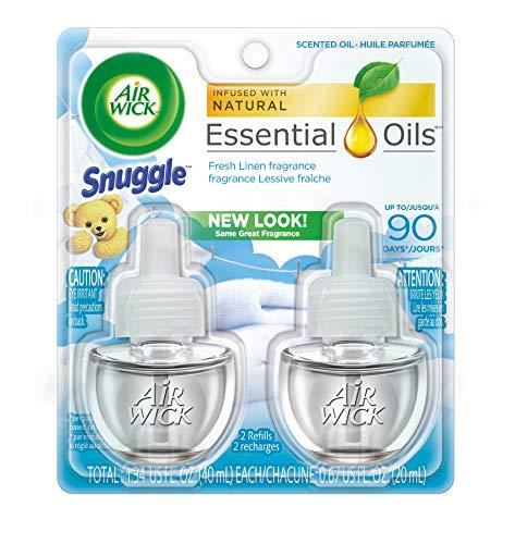 Air Wick Essential Oils Twin Refill Fresh Linen (2X.67) oz