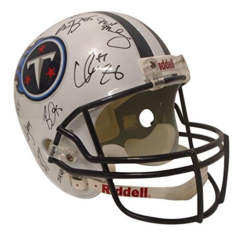 - 2017 Tennessee Titans Team Autographed Hand Signed Riddell Full Size Football Helmet with 36 Signatures Total and Proof Photos of Signing, COA, Mike Mularkey, Demarco Murray, Delanie Walker