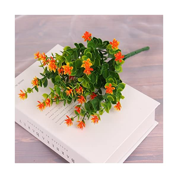 kingbuy-Artificial-Flowers-5-Bundles-Outdoor-UV-Resistant-Plants-Shrubs-Plastic-Leaves-Fake-Bushes-Greenery-for-Plants-Indoor-Outside-Hanging-Planter-Home-Patio-Yard-Garden-Decor-Window-Box