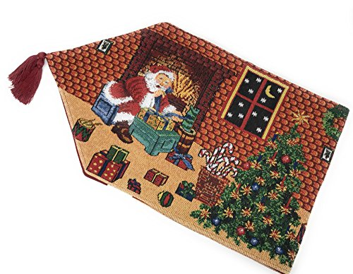 Tache Home Fashion Last Minute Christmas Preparations Tapestry, 13 X 72 Inch Table Runner, 13 x 72, ()