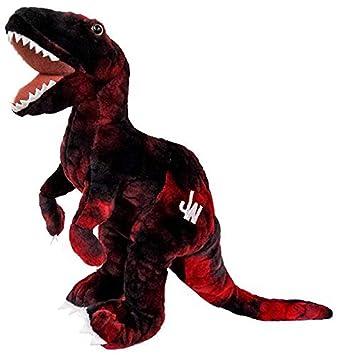 Jurassic World Juguetes de Peluche Velociraptor DE 30 cm, Color Rojo