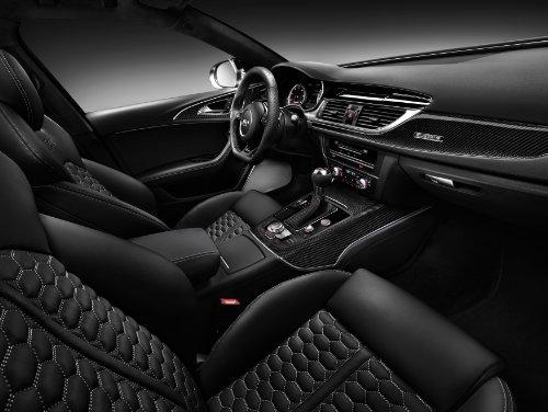 "Audi RS6 Avant (2013) Car Art Poster Print on 10 mil Archival Satin Paper Black Interior View 24""x18"""