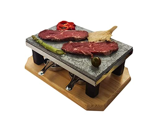 Piedra para Carne de 20x30 con Dos quemadores de Alcohol Modelo ...