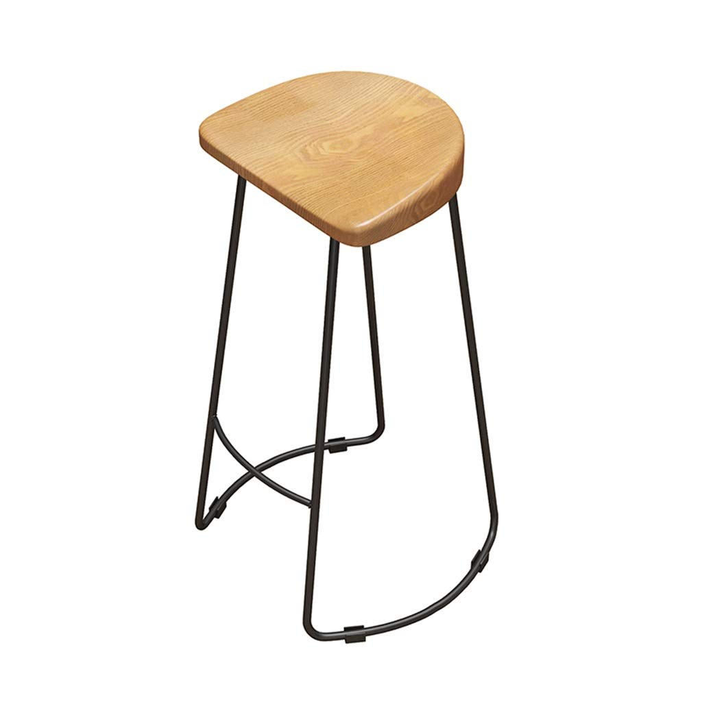BLACK 45CM Barstools High Chair Retro Barstools for Kitchen Bar Pub Wood and Metal Iron Dining Chair Vintage Style Backless Bar Stools with Non-Slip Pad  Max Load 150kg Vintage Bar Stools