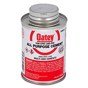 Oatey 30818 4-Ounce All Purpose Cement, Milky Clear