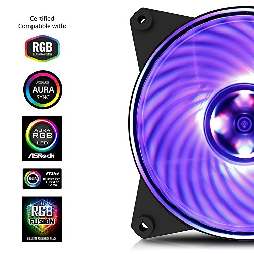 Cooler Master MasterFan Pro 120 Air Balance RGB- 120mm Hybrid RGB Case Fan, 3 In 1 with RGB LED Controller, Computer Cases CPU Coolers and Radiators by Cooler Master (Image #2)