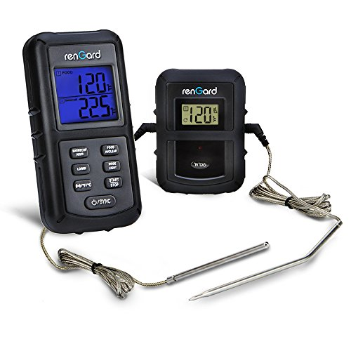 Big Save! RenGard Dual Probe Digital Wireless Barbecue Cooking Thermometer RG-08 - Personalized sett...