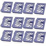 12 pack Filter for Neato 945-0048 XV-21 XV Signature XV Signature Pro XV-11 XV-12 945-0048 XV-15 Vacuum Cleaner Robotic Pet and Allergy by LifeSupplyUSA