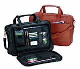 Royce Leather Expandable Briefcase (Black)