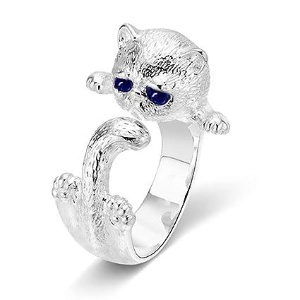 Anillo de la forma animal linda de apertura del anillo del gato anillo de dedo que