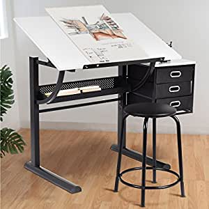 Amazon Com Tangkula Drafting Table Art Amp Craft Drawing