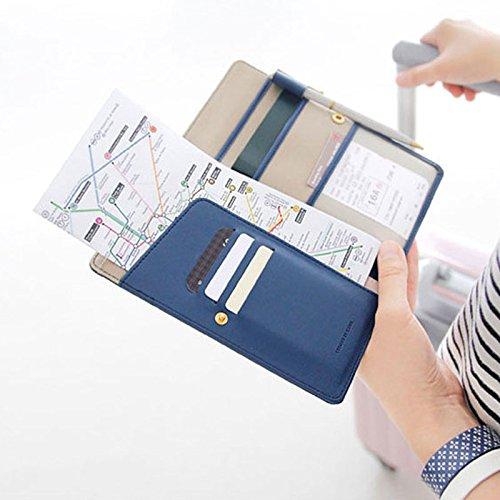 EQLEF® Poly Urethane Leder Spielraum-Pass-Kompakttasche Geldbörse
