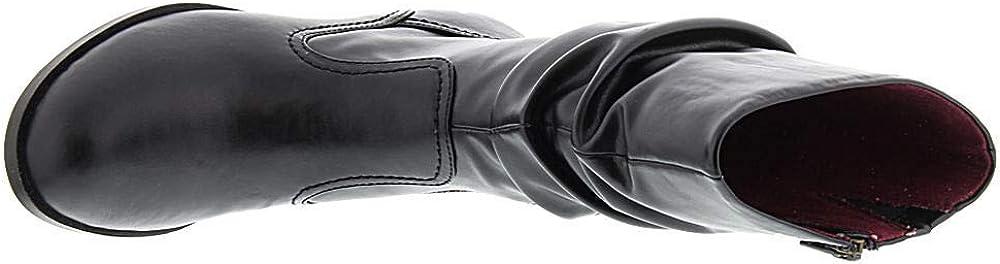 Size 12.0 Black ARRAY Womens Jennifer BLK SYN Boot Almond Toe Mid-Calf Fashion