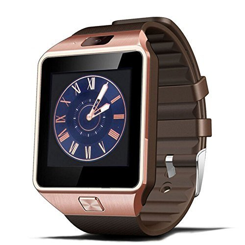 Padgene Bluetooth DZ09 Smartwatch Touch Screen with Pedometer Anti-Lost Camera Support Android Apple System (Rose Gold)