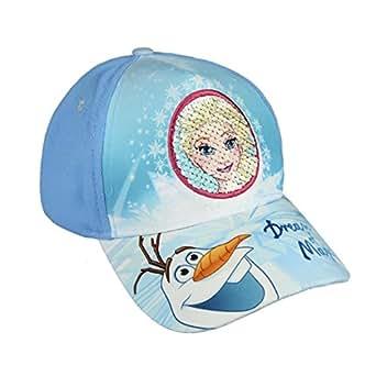 Frozen Disney Gorra para niña Premium color Azul y Blanco con lentejuelas reversibles + lápiz de regalo - Fozen Disney Cap: Amazon.es: Ropa y accesorios