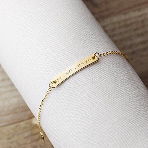 engraved custom couples bracelets - 1