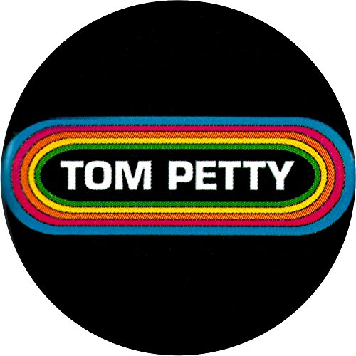 Tom Petty Rainbow Around Name Logo Button/Pin
