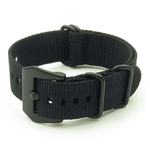 StrapsCo-Ballistic-Nylon-NATO-G10-Zulu-Watch-Strap-w-Matte-Black-Pre-V-Buckle