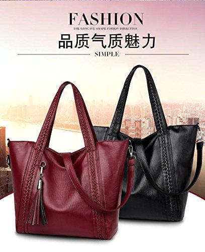 Women Large Vintage Pu Leather Saddle Messenger Bag Briefcase Handbag Satchel